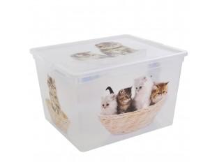 e7d653ee7 Plastový C Box CUBE s víkem Puppy & Kitten